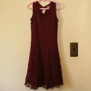 Btween Girls Red Lace Formal Dress Size 8